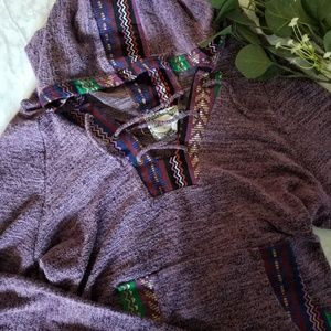 Skonhet Scandavian Hoodie Longsleeve Size L Pocket